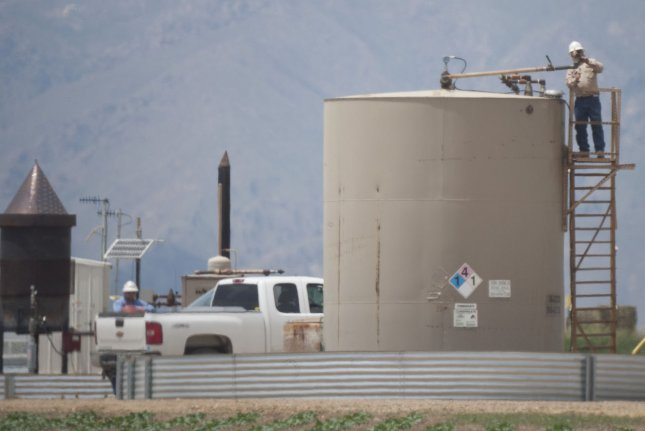 State data from Texas show oil and natural gas activity behind what was reported last year. File Photo by Gary C. Caskey/UPI
