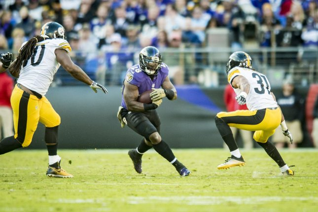 Will the Baltimore Ravens look to build a running game around Terrence West or address their needs in the secondary, first? Photo by Pete Marovich/UPI