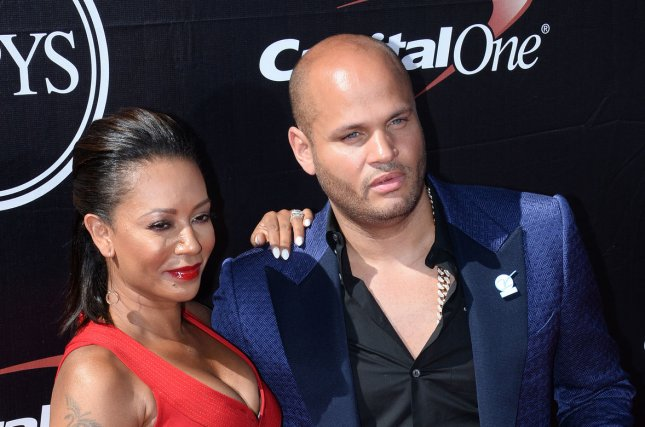 Mel B (L) and Stephen Belafonte attend the ESPY Awards on July 15, 2015. The couple split in December after nearly 10 years of marriage. File Photo by Jim Ruymen/UPI