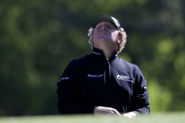 William McGirt stands on the 12th hole tee box in the second round on April 7 at the 2017 Masters Tournament at Augusta National Golf Club in Augusta, Ga. File photo by John Angelillo/UPI