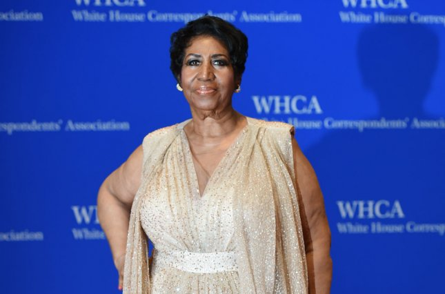 Aretha Franklin's funeral will feature a number of music legends and special guests such as Stevie Wonder and Bill Clinton. File Photo by Molly Riley/UPI