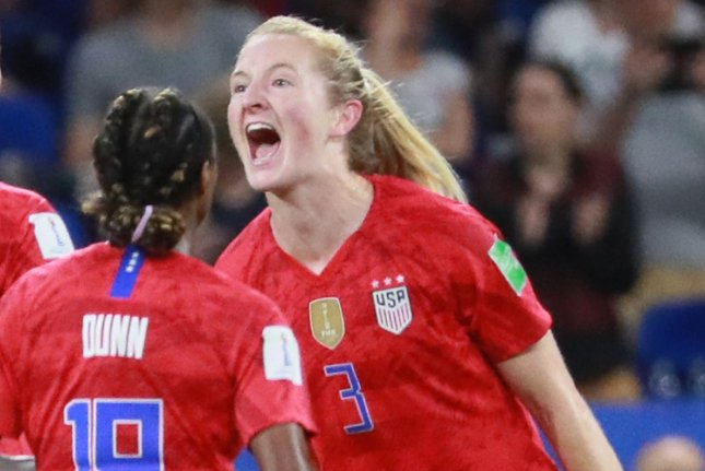 Sam Mewis (R) will join Manchester City after she spent the last four seasons with the North Carolina Courage of the National Women's Soccer League. File Photo by David Silpa/UPI