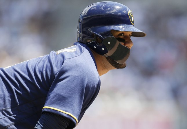 Jonathan Villar and the Milwaukee Brewers fought past the Washington Nationals on Thursday. Photo by John Angelillo/UPI