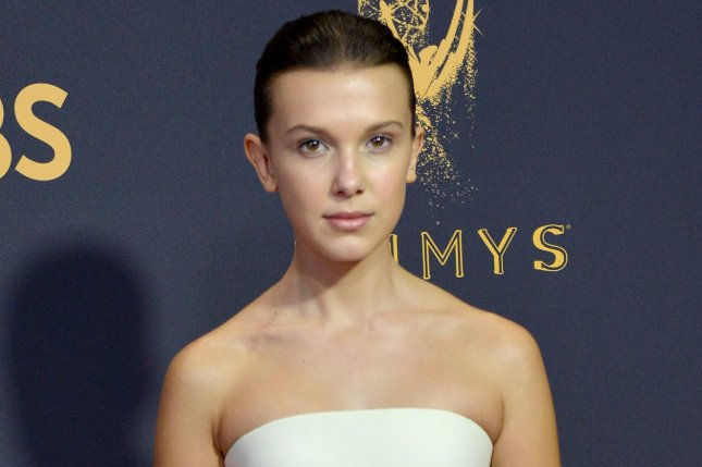 Millie Bobby Brown attends the Primetime Emmy Awards on September 17. The actress discussed Stranger Things Season 2 in the November issue of InStyle. File Photo by Christine Chew/UPI