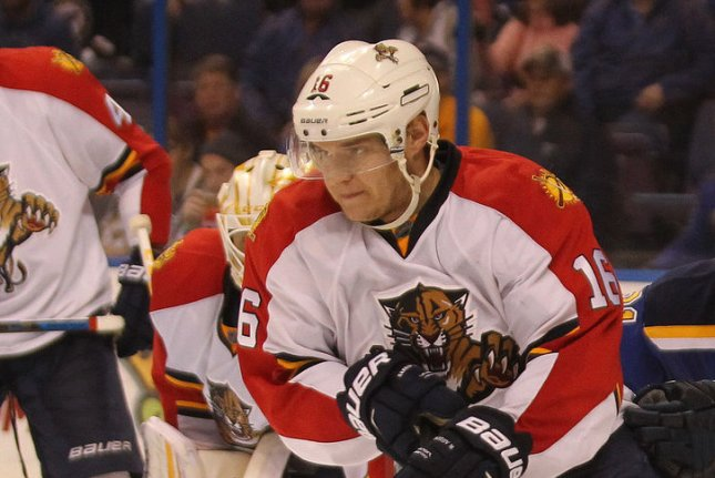 Aleksander Barkov and the Florida Panthers take on the Columbus Blue Jackets on Thursday. Photo by Bill Greenblatt/UPI