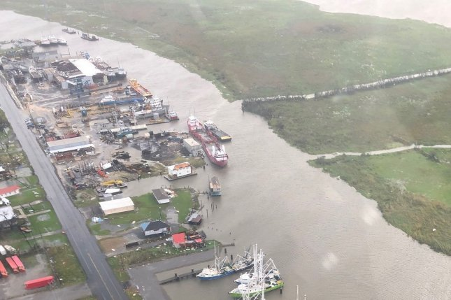 Flooding from Hurricane Ida is seen along the Gulf Coast in Louisiana on August 30. Meteorologists say two developing disturbances in the Atlantic Ocean could land somewhere in the U.S. Photo by U.S. Coast Guard/UPI