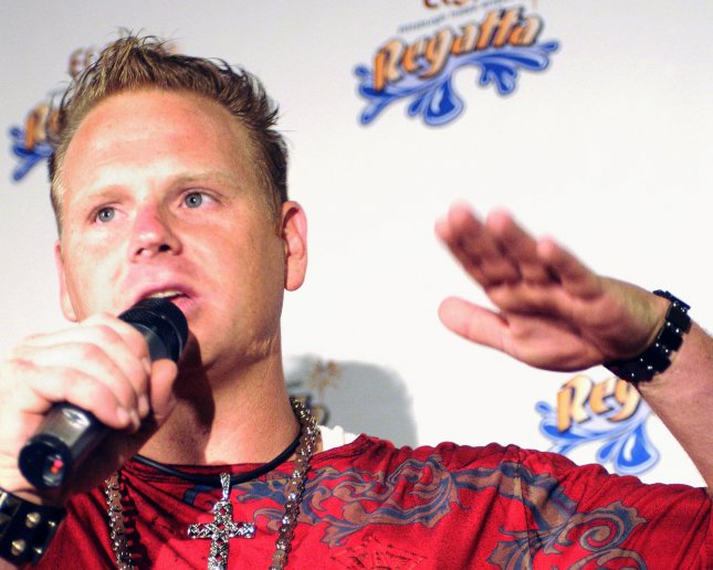 Nik Wallenda describes his 1000 feet long and 200 feet high walk on a high wire above the Allegheny River and Roberto Clemente Bridge without shoes at a press conference following the walk as part of the Three Rivers Regatta in Pittsburgh on July 3, 2009. (UPI File Photo/Archie Carpenter)