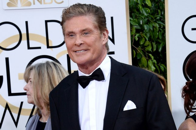 David Hasselhoff attending the 73rd annual Golden Globe Awards on January 10, 2016. The actor is joining the upcoming Baywatch movie. File Photo by Jim Ruymen/UPI