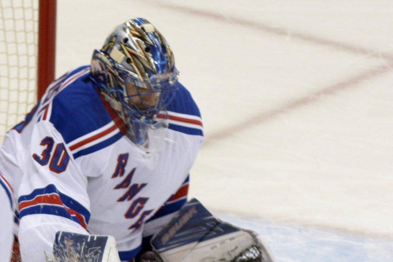 New York Rangers goalie Henrik Lundqvist (30). Photo by Archie Carpenter/UPI