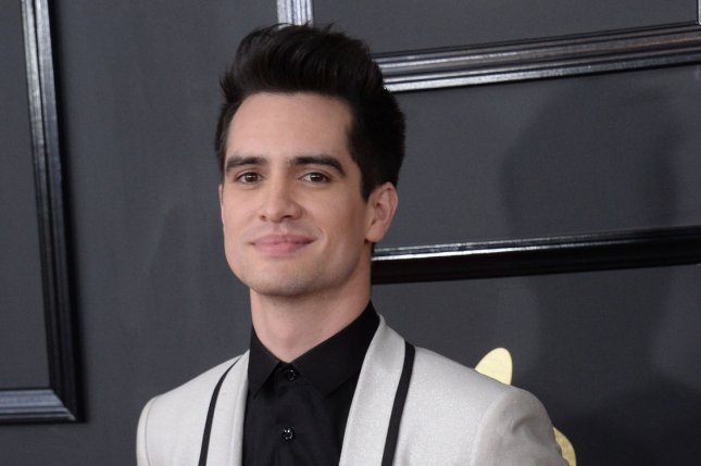 Brendon Urie of Panic! at the Disco attends the Grammy Awards on February 12. The singer will play Charlie Price in Kinky Boots on Broadway. File Photo by Jim Ruymen/UPI