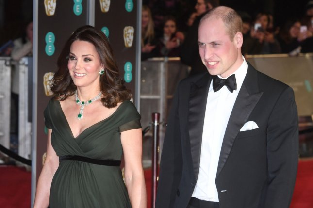 Prince William (R) and Kate Middleton attend the EE British Academy Film Awards on Sunday. Photo by Paul Treadway/UPI