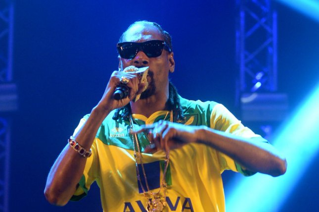 American rapper Snoop Dogg performs at the BBC Radio Big Weekend in Norwich, England, on May 23, 2015. File Photo by Rune Hellestad/ UPI