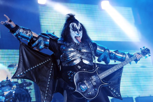 American singer/bass player Gene Simmons performs with Kiss at Wembley Arena in London on May 12, 2010. UPI/Rune Hellestad