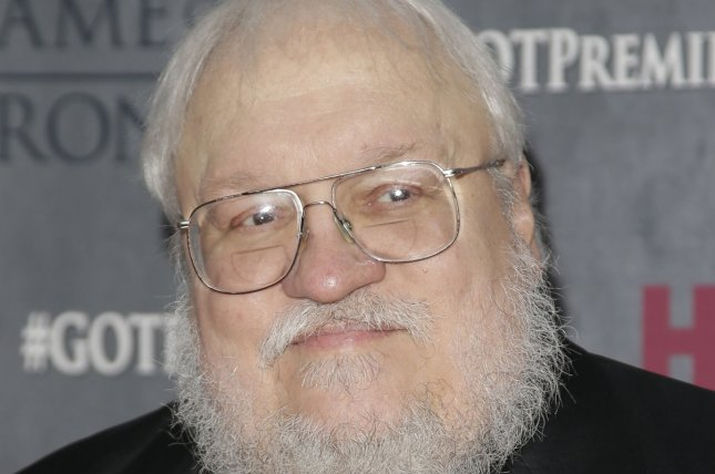 George R.R. Martin arrives on the red carpet at the Game Of Thrones Season 4 premiere at Avery Fisher Hall at Lincoln Center in New York City on March 18, 2014. UPI/John Angelillo