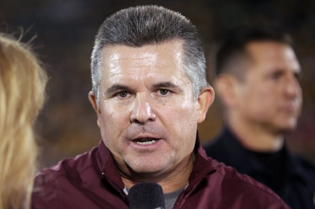The Arizona State Sun Devils and head coach Todd Graham upset the seventh ranked UCLA Bruins at the Rose Bowl, 38-23. File photo Bill Greenblatt/UPI