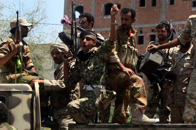 The Yemeni government accused Lebanon-based Hezbollah on Wednesday of helping Houthi rebels, pictured, carry out cross-border attacks into Saudi Arabia. Last week, Saudi Arabia canceled $3 billion in pledged military aid, blaming Hezbollah's influence over Lebanese affairs. File photo by Anees Mahyoub/UPI