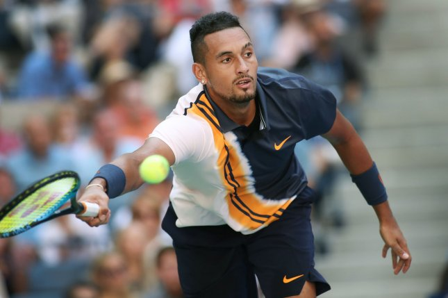 Nick Kyrgios of Australia lost his first round match on Monday at the 2018 Shanghai Masters in China. Photo by Monika Graff/UPI