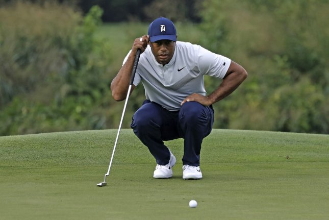 Tiger Woods had an eagle and two birdies on the front nine of the 2020 Genesis Open Thursday at Riviera County Club in Los Angeles. File Photo by Peter Foley/UPI