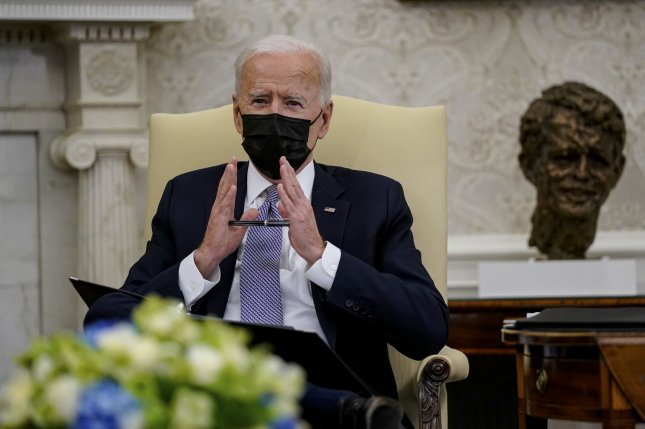 President Joe Biden discussed escalating tensions with Ukraine in call Tuesday with Russian President Vladimir Putin. File Photo by Amr Alfiky/UPI