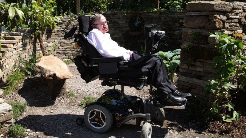 Astro physicist Professor Stephen Hawking . UPI/Hugo Philpott