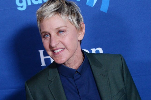 Ellen DeGeneres is set to receive the Award for Favorite Humanitarian at the People's Choice Awards on Wednesday. Her daytime talk show also was renewed through 2020. Photo by Jim Ruymen/UPI