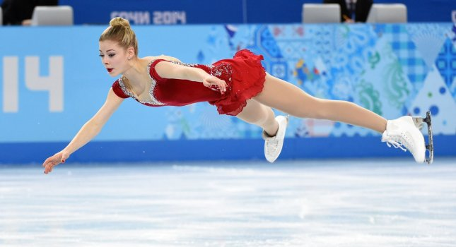 Gracie Gold performs during the figure skating ladies short program at the Sochi 2014 Winter Olympics. File Photo by Molly Riley/UPI