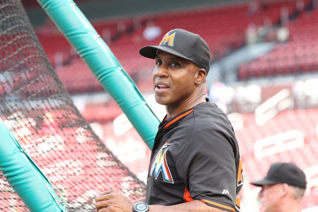 Former Miami Marlins batting coach and San Francisco Giants slugger Barry Bonds has turned his attention to baking. File photo by Bill Greenblatt/UPI