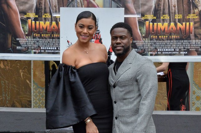 Kevin Hart and his wife, Eniko Parrish, appear at the ceremony in front of the TCL Chinese Theatre. Photo by Jim Ruymen/UPI