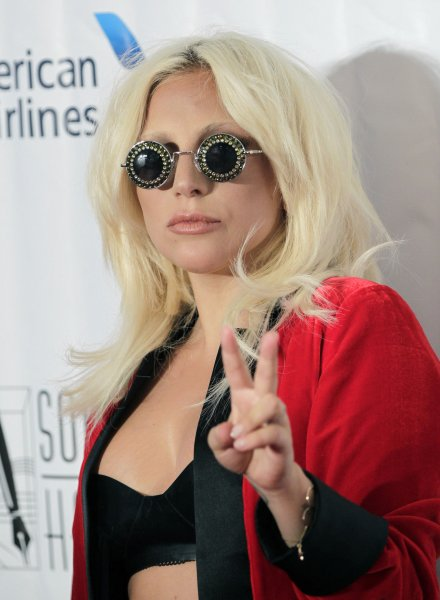 Lady Gaga at the 2015 Songwriters Hall of Fame induction ceremony on June 18, 2015. The singer's dog Asia stars in a new Coach campaign. File photo by John Angelillo/UPI