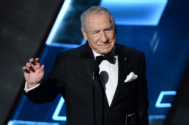 Mel Brooks appears onstage during the 67th Primetime Emmy Awards in Los Angeles on September 20, 2015. The actor and filmmaker is to receive the National Medal of Arts later this month. File Photo by Ken Matsui/UPI.