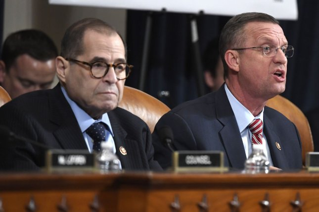 Democrats and Republicans on the House judiciary committee made their cases for or against impeachment during a hearing on Thursday evening.  Photo by Mike Theiler/UPI