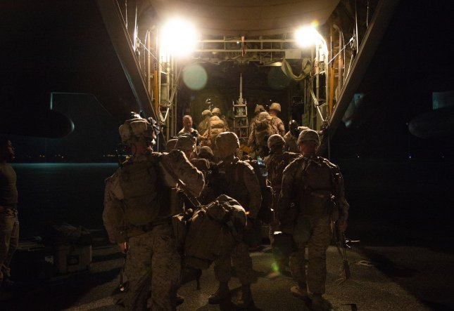 U.S. Marines with 2nd Battalion, 7th Marines, assigned to the Special Purpose Marine Air-Ground Task Force-Crisis Response-Central Command 19.2. Photo by Sgt. Kyle C. Talbot/U.S. Marine Corps/UPI