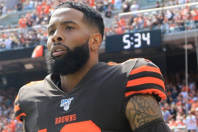 Cleveland Browns wide receiver Odell Beckham Jr. tore the ACL in his left knee during a win over the Cincinnati Bengals on Sunday in Cincinnati. File Photo by Aaron Josefczyk/UPI