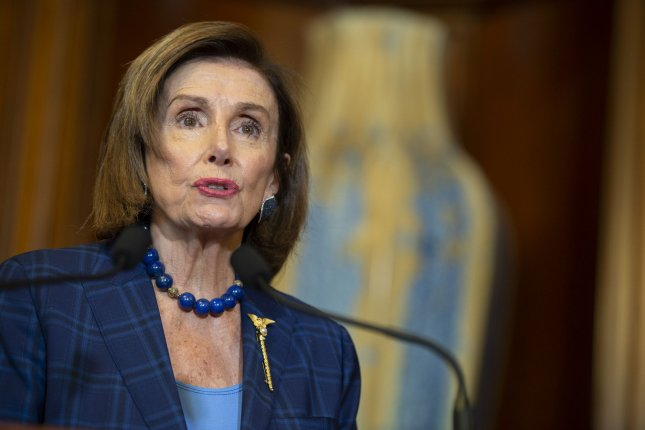 Speaker of the House Nancy Pelosi, D-Calif., has has put House members on a 24-hour alert to return from recess if summoned to consider new legislation. Photo by Bonnie Cash/UPI