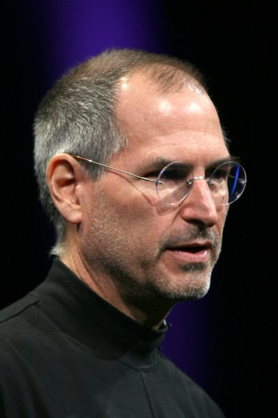 Steve Jobs is shown in a file photo at MacWorld Expo in San Francisco, Jan. 9, 2007. UPI/Aaron Kehoe/Files