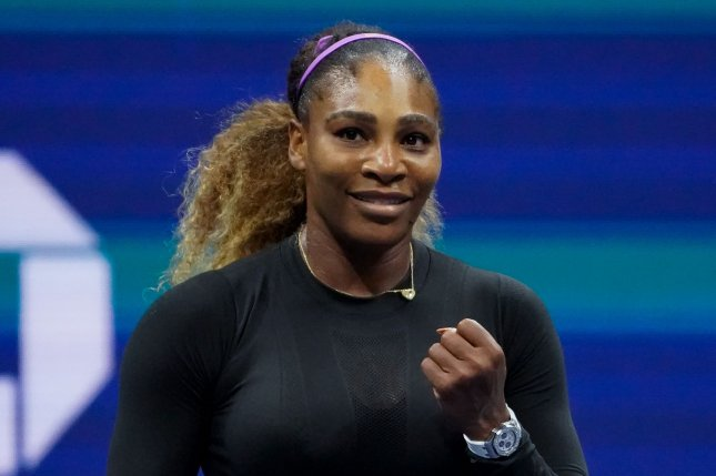 Serena Williams celebrates after defeating Elina Svitolina in the semifinal round of the 2019 U.S. Open Tennis Championships on Thursday in Flushing, N.Y. Photo by Ray Stubblebine/UPI