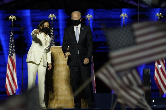 "The theme of ""America United"" has been chosen by the inaugural committee for the swearing in of President-elect Joe Biden and Vice-president-elect Kamala Harris on Jan. 20. File Pool Photo photo by Andrew Harnik/UPI"