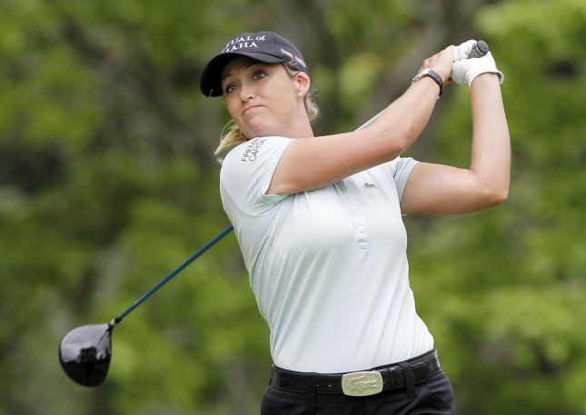 Cristie Kerr, shown in a June 2011 file photo, jumps to No. 11 in the wolrd women's golf rankings, which were updated Monday. UPI/John Angelillo