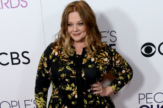 Actress Melissa McCarthy, winner of Favorite Comedic Movie Actress, appears backstage during the 43rd annual People's Choice Awards in Los Angeles on January 18. McCarthy also won an Emmy Sunday for her guest work on Saturday Night Live. File Photo by Jim Ruymen/UPI