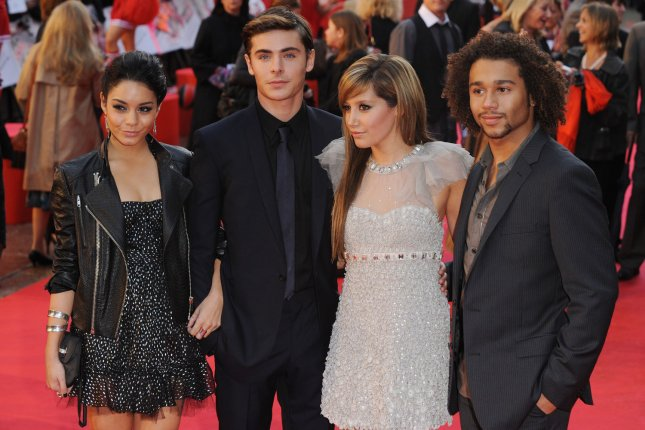 High School Musical stars Vanessa Hudgens, Zac Efron, Ashley Tisdale Corbin Bleu (L-R) will be replaced by a new cast in Disney's High School Musical series. File Photo by Rune Hellestad/UPI