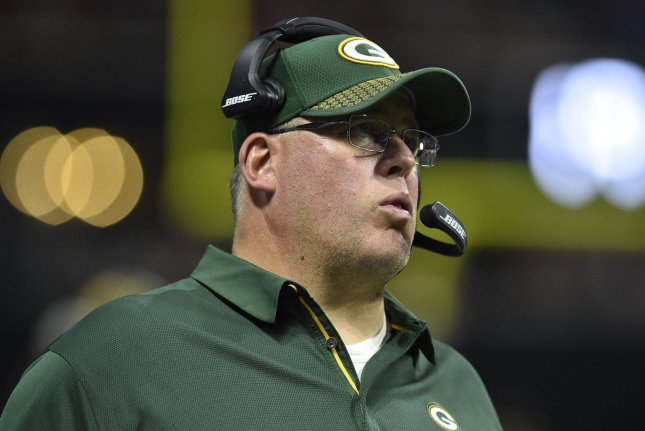 Green Bay Packers head coach Mike McCarthy was fired following Sunday's loss to the Arizona Cardinals. File photo by David Tulis/UPI