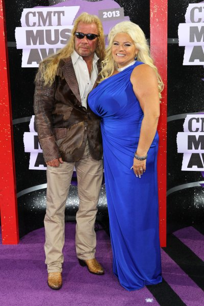 Duane Dog and Beth Chapman are seen at the CMT Awards in Nashville on June 6, 2013. Duane announced this weekend that his cancer-stricken wife has been placed in a medically induced coma. File Photo by Terry Wyatt/UPI