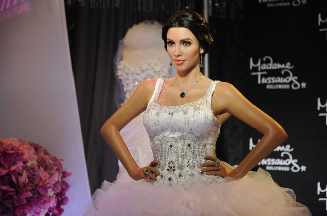 This wax figure of Kim Kardashian in wedding dress was displayed in Los Angeles Aug. 18, 2011. Kardashian filed for divorce Monday from Kris Humphries after 72 days of marriage. UPI/Phil McCarten