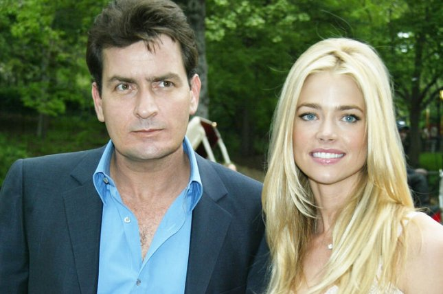 Charlie Sheen and es wife Denise Richards. lc/Laura Cavanaugh UPI