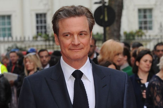 Colin Firth attends the U.K. premiere of Eye In The Sky at Curzon Mayfair in London on April 11, 2016. Firth was revealed to be on set of action sequel Kingsman: The Golden Circle despite his character dying in the original film. File Photo by Paul Treadway/ UPI