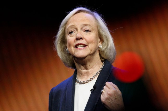 Meg Whitman, shown at a January speech in Las Vegas, touted Quibi's 1.7 million downloads Monday despite it being well short of the streaming debut of rival Disney+. Photo by James Atoa/UPI