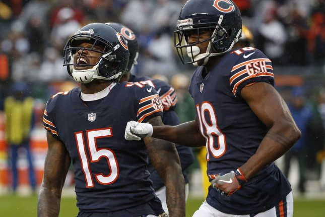 Former Chicago Bears wide receiver Josh Bellamy (15) was released by the New York Jets on Tuesday. File Photo by Kamil Krzaczynski/UPI