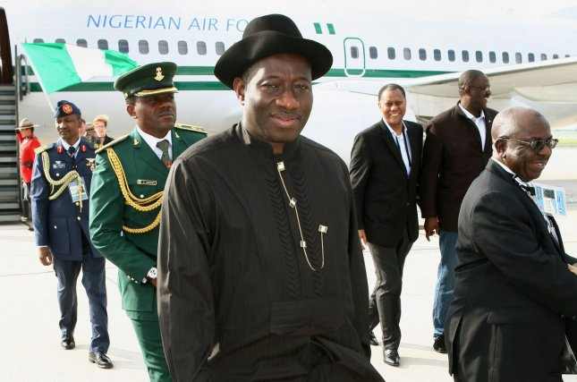 Nigerian President Goodluck Ebele Jonathan at Toronto International Airport, June 24, 2010. Jonathan had urged postponement of the Feb. 14 2015 presidential elections in Nigeria due to the threat of Boko Haram. On February 7, 2014, the elections were officially rescheduled for March 28. File photo by Dave Chan/UPI