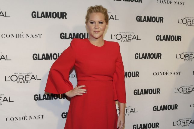 Amy Schumer arrives on the red carpet when Glamour Celebrates the 25th anniversary of the Woman of the Year Awards on November 9, 2015. Schumer has said that Anne Hathaway would make a good Barbie in Sony's upcoming live-action film. File Photo by John Angelillo/UPI