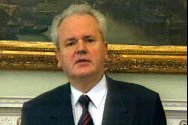 On February 12, 2002, former Yugoslav President Slobodan Milosevic went on trial at The Hague, Netherlands, on charges of genocide and war crimes in Bosnia, Croatia and Kosovo. UPI File Photo